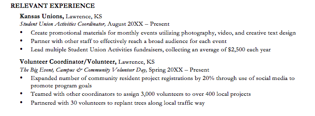 volunteering u2014the extra boost your resume needs  u2013 ku